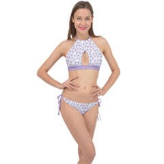 Just Leaves  Cross Front Halter Bikini Set by TimelessFashion
