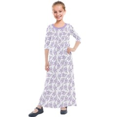 Just Leaves  Kids  Quarter Sleeve Maxi Dress by TimelessFashion