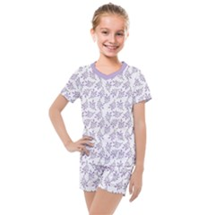 Just Leaves  Kids  Mesh Tee And Shorts Set