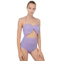 Just Squares  Scallop Top Cut Out Swimsuit by TimelessFashion
