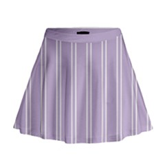 Nice Stripes In Crocus Petal  Mini Flare Skirt by TimelessFashion