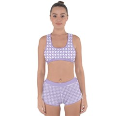 Odd Shaped Grid  Racerback Boyleg Bikini Set