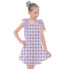 Odd Shaped Grid  Kids  Tie Up Tunic Dress by TimelessFashion