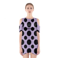 Polka Dots (large) Shoulder Cutout One Piece Dress by TimelessFashion