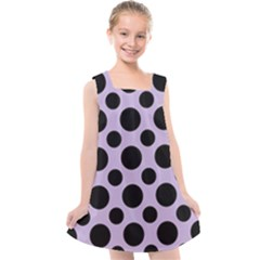 Polka Dots (large) Kids  Cross Back Dress by TimelessFashion