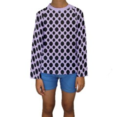 Polka Dots (medium) Kids  Long Sleeve Swimwear by TimelessFashion