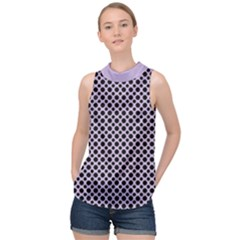 Polka Dots (small) High Neck Satin Top by TimelessFashion