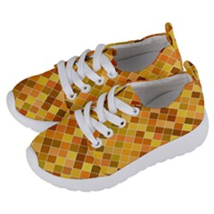 Square Pattern Diagonal Kids  Lightweight Sports Shoes by Mariart