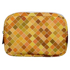 Square Pattern Diagonal Make Up Pouch (small)