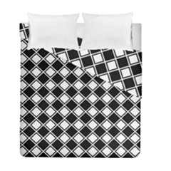 Square Diagonal Pattern Duvet Cover Double Side (full/ Double Size)