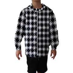 Square Diagonal Pattern Hooded Windbreaker (kids)