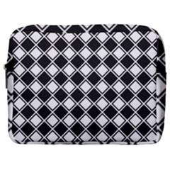 Square Diagonal Pattern Make Up Pouch (large)