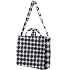Square Diagonal Pattern Square Shoulder Tote Bag by Mariart