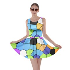 Stained Glass Colourful Pattern Skater Dress