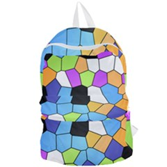 Stained Glass Colourful Pattern Foldable Lightweight Backpack by Mariart