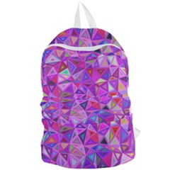 Pink Triangle Background Abstract Foldable Lightweight Backpack by Mariart