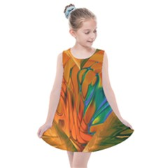 Pattern Heart Love Lines Kids  Summer Dress by Mariart