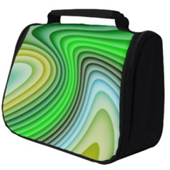 Wave Lines Pattern Abstract Full Print Travel Pouch (big)