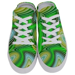 Wave Lines Pattern Abstract Half Slippers