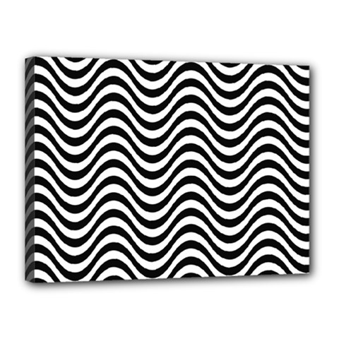 Wave Pattern Canvas 16  X 12  (stretched) by Jojostore