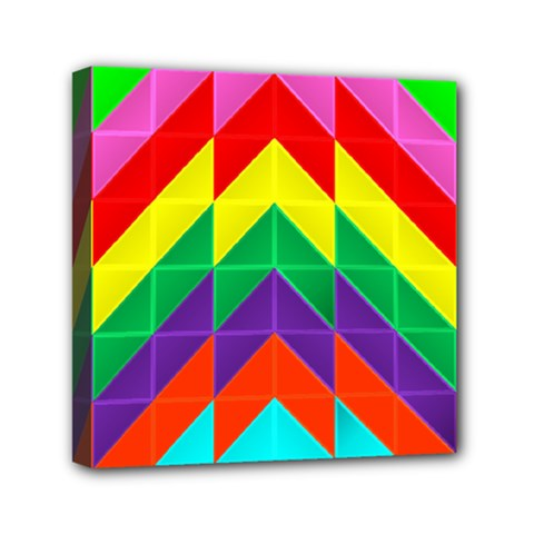 Vibrant Color Pattern Mini Canvas 6  X 6  (stretched)