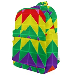 Vibrant Color Pattern Classic Backpack by Jojostore