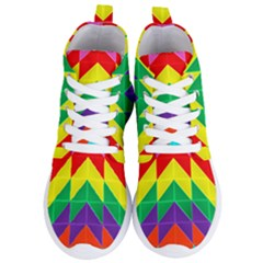 Vibrant Color Pattern Women s Lightweight High Top Sneakers