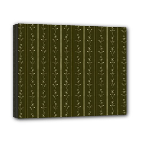 Vintage Wallpaper Canvas 10  X 8  (stretched) by Jojostore