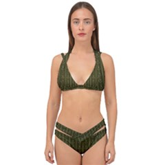 Vintage Wallpaper Double Strap Halter Bikini Set by Jojostore