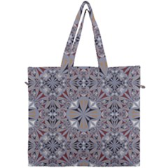 Triangle Pattern Kaleidoscope Canvas Travel Bag by AnjaniArt
