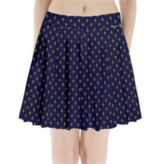 Texture Pattern Pleated Mini Skirt by AnjaniArt