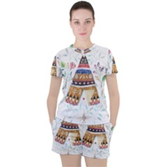 Triangle Tent Women s Tee And Shorts Set by AnjaniArt