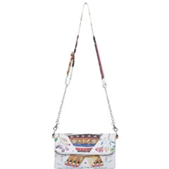 Triangle Tent Mini Crossbody Handbag by AnjaniArt