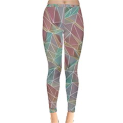 Triangle Mesh Render Background Inside Out Leggings