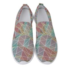 Triangle Mesh Render Background Women s Slip On Sneakers by AnjaniArt
