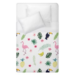 Tropical Vector Elements Peacock Duvet Cover (single Size)
