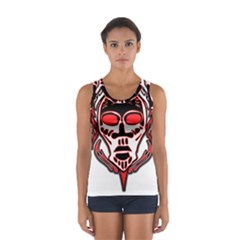 Visual Arts Skull Sport Tank Top  by Alisyart