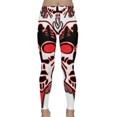 Visual Arts Skull Lightweight Velour Classic Yoga Leggings