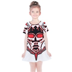 Visual Arts Skull Kids  Simple Cotton Dress