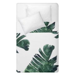 Watercolor Dark Green Banana Leaf Duvet Cover Double Side (single Size)
