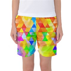 Watercolor Paint Blend Women s Basketball Shorts