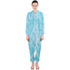 Zigzag Backdrop Pattern Hooded Jumpsuit (ladies)