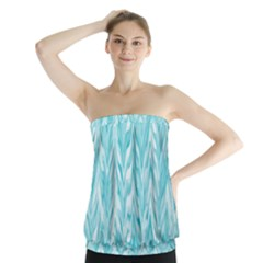 Zigzag Backdrop Pattern Strapless Top