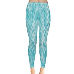 Zigzag Backdrop Pattern Inside Out Leggings