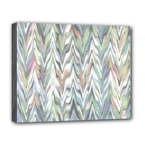 Zigzag Backdrop Pattern Grey Deluxe Canvas 20  X 16  (stretched)