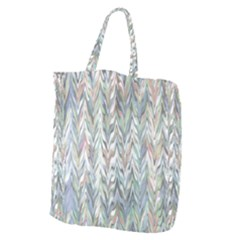 Zigzag Backdrop Pattern Grey Giant Grocery Tote
