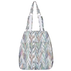 Zigzag Backdrop Pattern Grey Center Zip Backpack