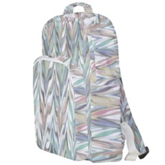 Zigzag Backdrop Pattern Grey Double Compartment Backpack