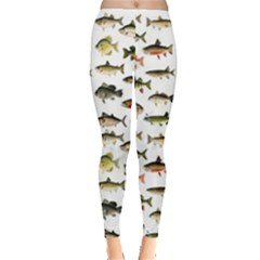 Ml 71 Fish Of North America Leggings  by ArtworkByPatrick