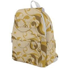 Floral Decoration Flowers Brown Top Flap Backpack